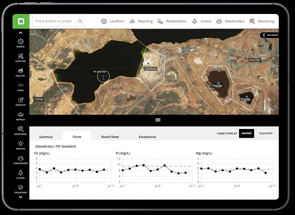 Environmental Monitoring - Sampling - Mine Rehabilitation & Closure - Tailings Storage Facilities - Decipher Platform Software
